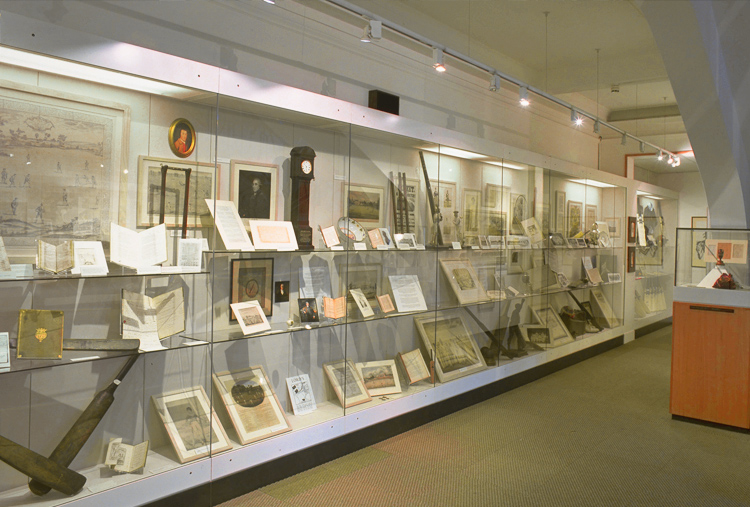 inca, prism, vista and mono showcases used at the mcc lords museum