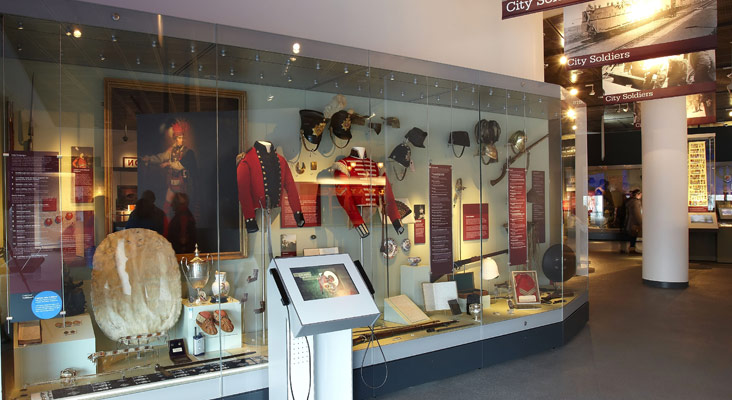 our inca showcase in a museum display