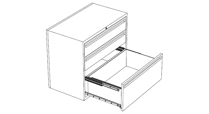 black and white design of access storage