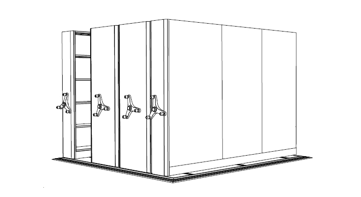black and white design of motion storage
