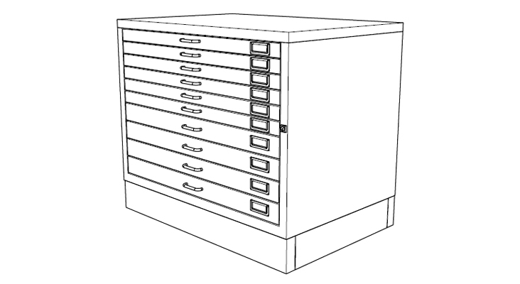 black and white design of plan storage