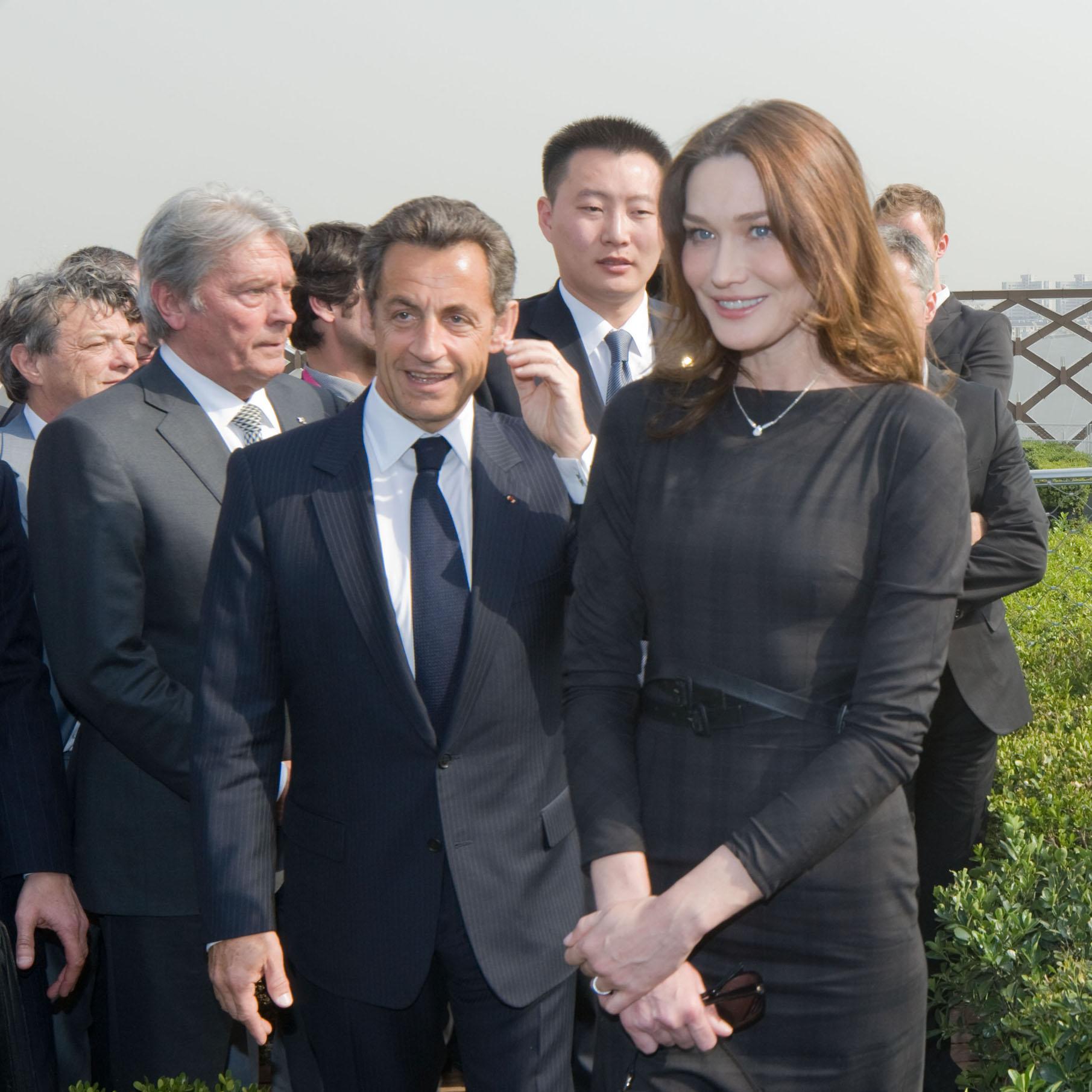 President Sarkozy and  Carla Bruni-Sarkozy