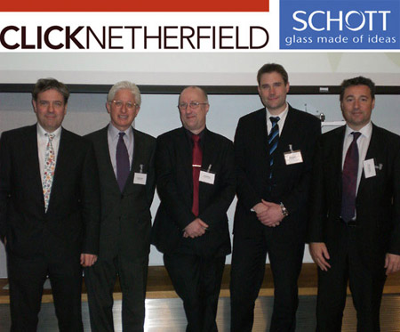 From Left to Right: Jonathan Howard - DHA lighting,  James Snyder – The Israel Museum,  Dave Patten - The Science Museum,  Matthias Anton - Schott AG (Mainz), Mike Chaplin – ClickNetherfield