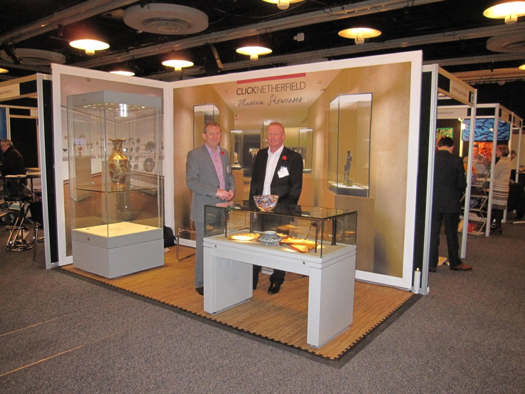 Jim & Grant on our stand last year.