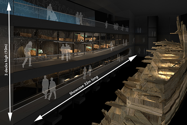 At 32m long and 10m high, this is probably one of the largest museum display cases in the world.